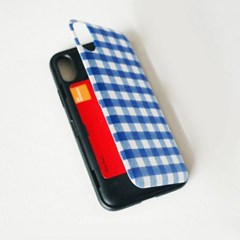 [duboo] 프렌치 체크 블루 카드 수납케이스