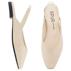 SPUR[스퍼] 슬링백 MS9073 Slim square sling back 베이지