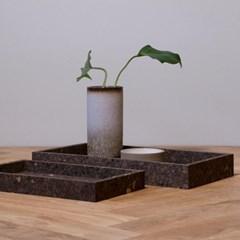 [LOW KEY] Black cork tray rectangular (코르크 트레이 직사각)