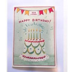 카발리니 카드-Happy birthday cake3
