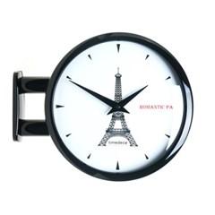 모던 양면시계 에펠탑 양면벽시계