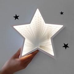 별 모양 LED 착시 거울 조명