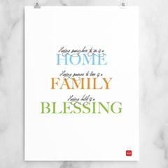 가정의 축복 그림 - 홈 패밀리 블레씽