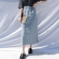 Linen long skirt(3colors)린넨 100%