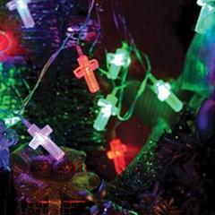 LED 32P 십자가 이색투명선 (칼라)-3m