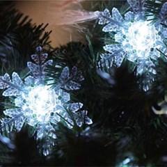 LED 30p 눈설정 투명선 (웜/백색/칼라)