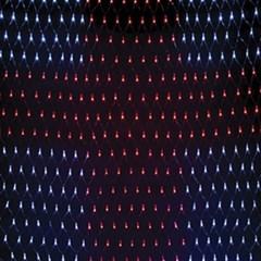 LED 380P 네트십자가 투명선 (백색 적색)