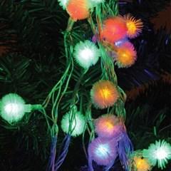 LED 50P 눈꽃 투명선 (백색,웜,칼라)