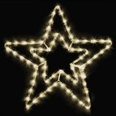 LED 논네온 별 55cm (웜/백색)