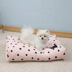멜리펫 강아지방석 도트 핑크