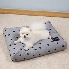 멜리펫 강아지방석 도트 그레이
