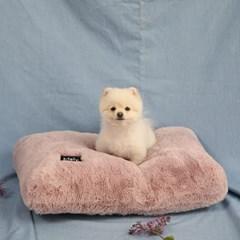 멜리펫 강아지방석 퍼 핑크