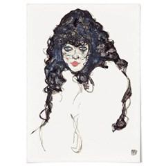 패브릭 포스터 명화 초상화 그림 액자 에곤 쉴레 27
