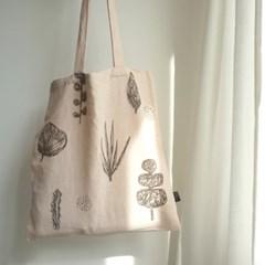 leaves bag - gray