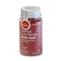 Aroma Spa Bath 국산 천일염 입욕제 100g_딸기향