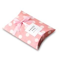 [인디고샵]  핑크도트 반달 상자 소 (2개)