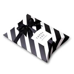 [인디고샵] 모던블랙 스트라이프 반달 상자 소 (2개)