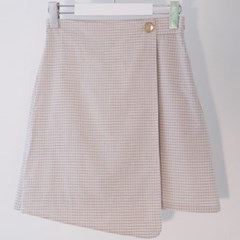Check Wrap Skirt (L/BE)