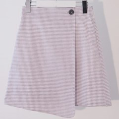 Check Wrap Skirt (WH)