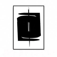 패브릭 포스터 추상화 인테리어그림 액자 블랙 2
