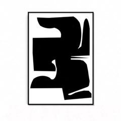 패브릭 포스터 추상화 인테리어그림 액자 블랙 1