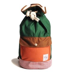 DUFFLE BAG-ORANGE/GREEN_(1067023)