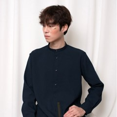 STAND COLLAR SHIRTS_NAVY