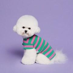 Fancy Stripe Tee Pink