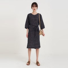 mine check one-piece (2colors)