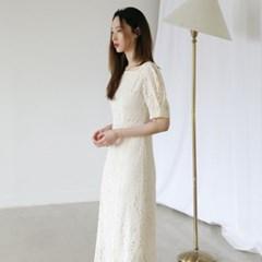 [치즈달] 플라워 아일릿 드레스