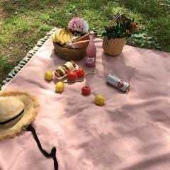 피크닉매트 - Basic Linen-Pink