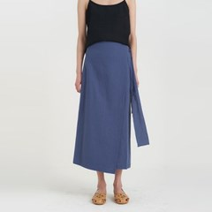 bonny linen lap skirt (2colors)