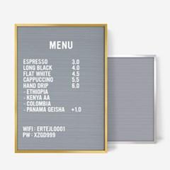 A3 그레이 레터보드 DIY 세트 - 골드,실버Frame(알파벳284개포함)