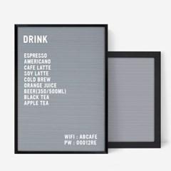A3 그레이 레터보드 DIY 세트 - 블랙Frame(알파벳284개포함)