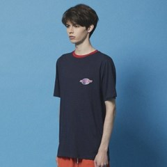 Color neck Space logo TEE_DT205 Navy