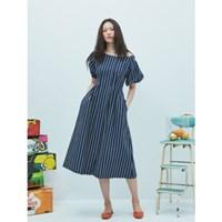 Linen Navy Stripe Dress