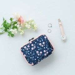 프리윌x마리몬드 MULTI POUCH HANDS - peach blossom navy