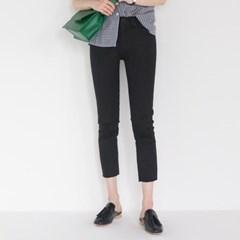 basic 8-length clean fit pants