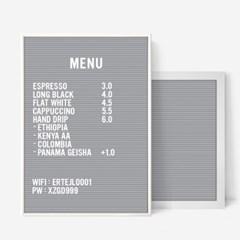 A3 그레이 레터보드 DIY 세트 - 화이트,그레이Frame