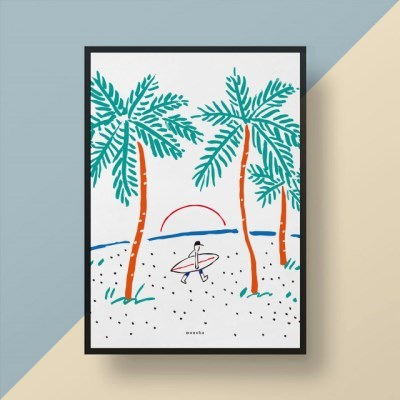 유니크 인테리어 디자인 포스터 M 고 서핑! Surfing