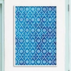 blue pattern - A2,A3,A4 인테리어 메탈액자
