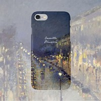 Camille Pissarro(카미유 피사로)-몽마르트 대로 밤 1897