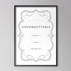 unforgettable_mono - A2,A3,A4 인테리어 메탈액자