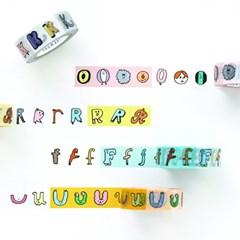 잼잼 알파벳 PAPER TAPE (O~Z, number)