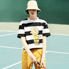 [SM18 Peanuts] Charlie Stripe T-Shirts(White)_(626279)