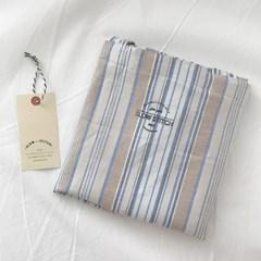 natural linen stripe bag