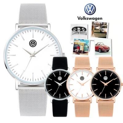 폭스바겐 메쉬밴드 가죽밴드 시계 VW1429A 시리즈