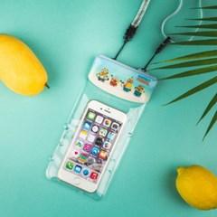 미니언즈 스마트폰 캐릭터 5인치 방수팩