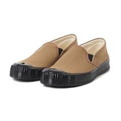 Fern Shoes Army Slipon Camel Canvas/Black