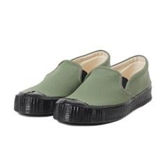 Fern Shoes Army Slipon Olive Canvas/Black